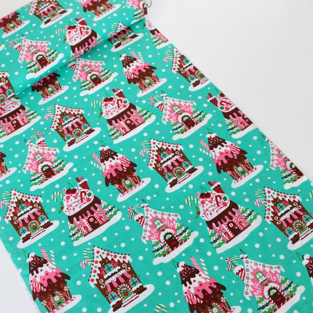 Gingerbread Village Fabric by Michael Miller