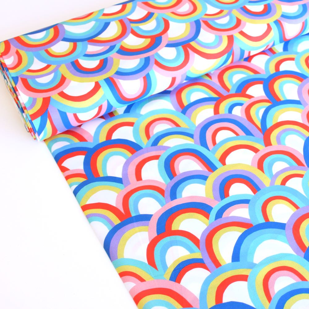 Over The Rainbow 12 Inch Rainbows Fabric by Paintbrush Studio