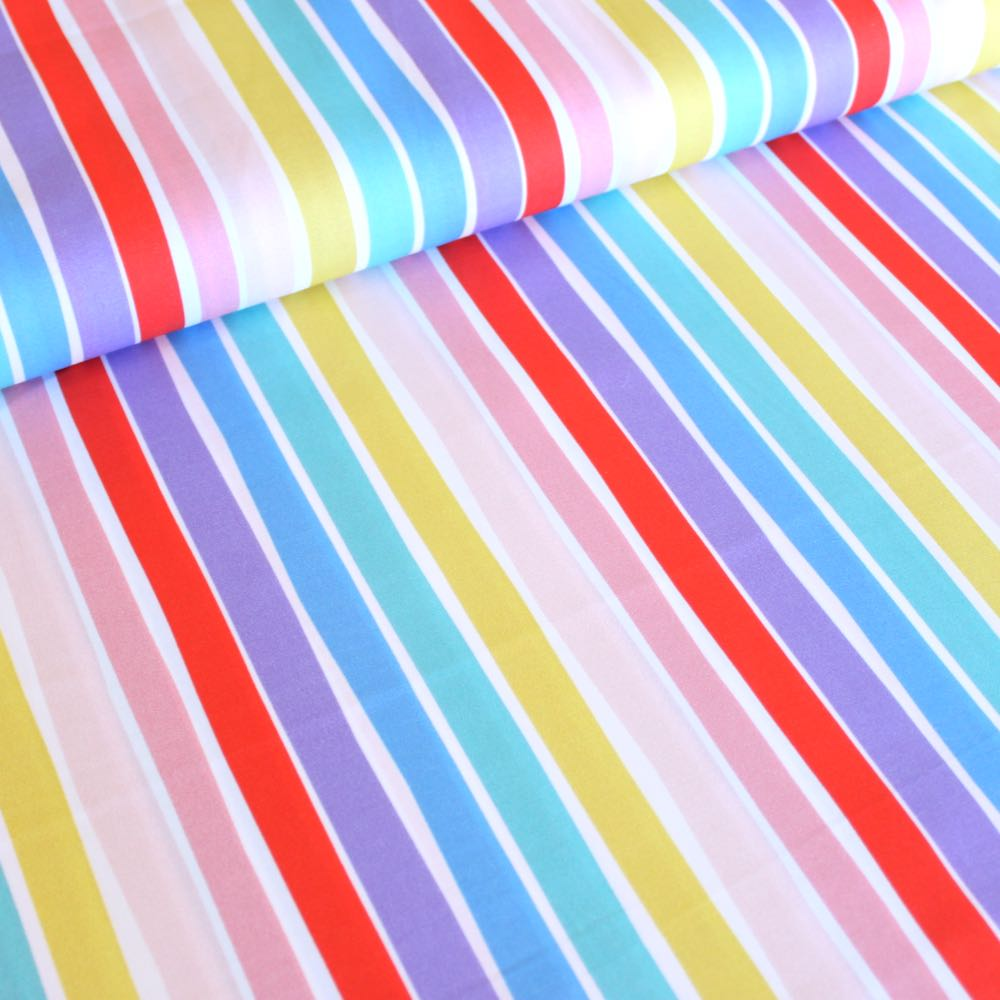 Over The Rainbow 6 Inch Stripe Fabric by Paintbrush Studio