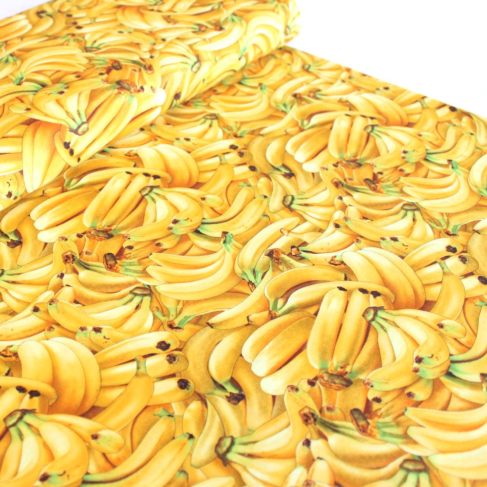 Food Festival Bananas Fabric by Elizabeth Studio