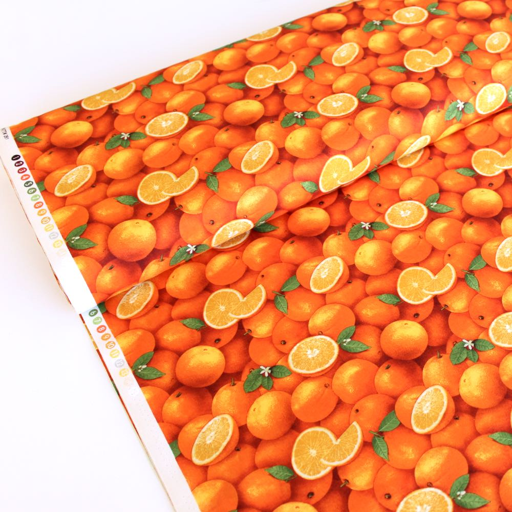 Food Festival Oranges - Frumble Fabrics