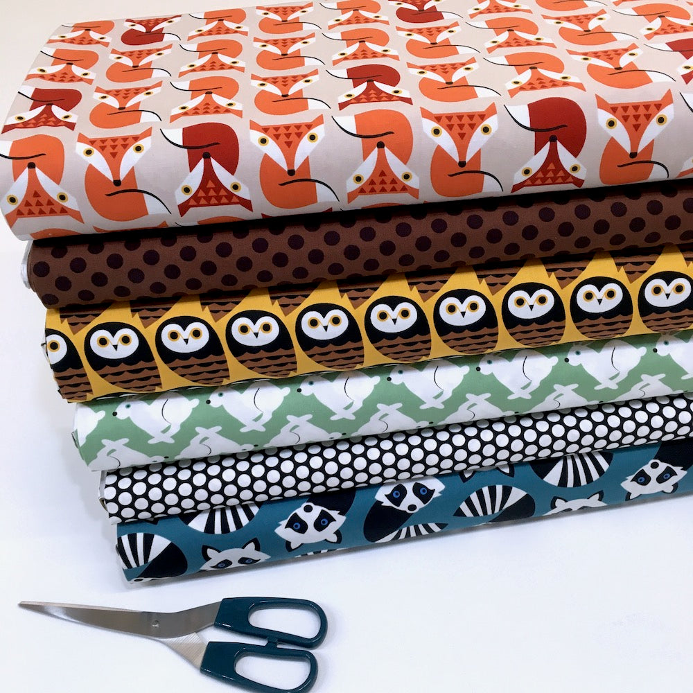 Geometric Animals Fabric FQ Bundle
