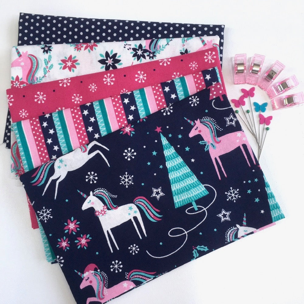 Christmas Unicorn Magic Fat Quarter Pack