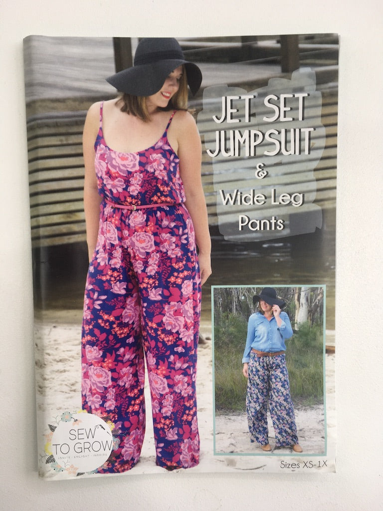 Jet Set Jumpsuit & Wide Leg Pants - Sew To Grow Sewing Pattern - Frumble Fabrics
