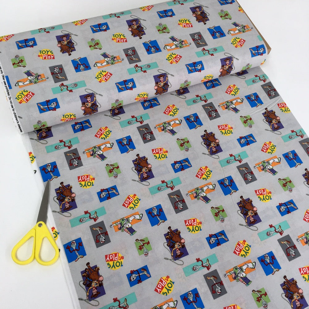 Toy Story 4 At Play With Forky Multi - Frumble Fabrics