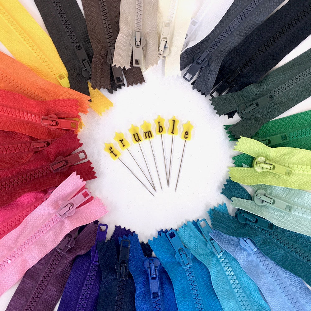 Closed End Chunky Zips in 26 Bright Colours and Various Sizes