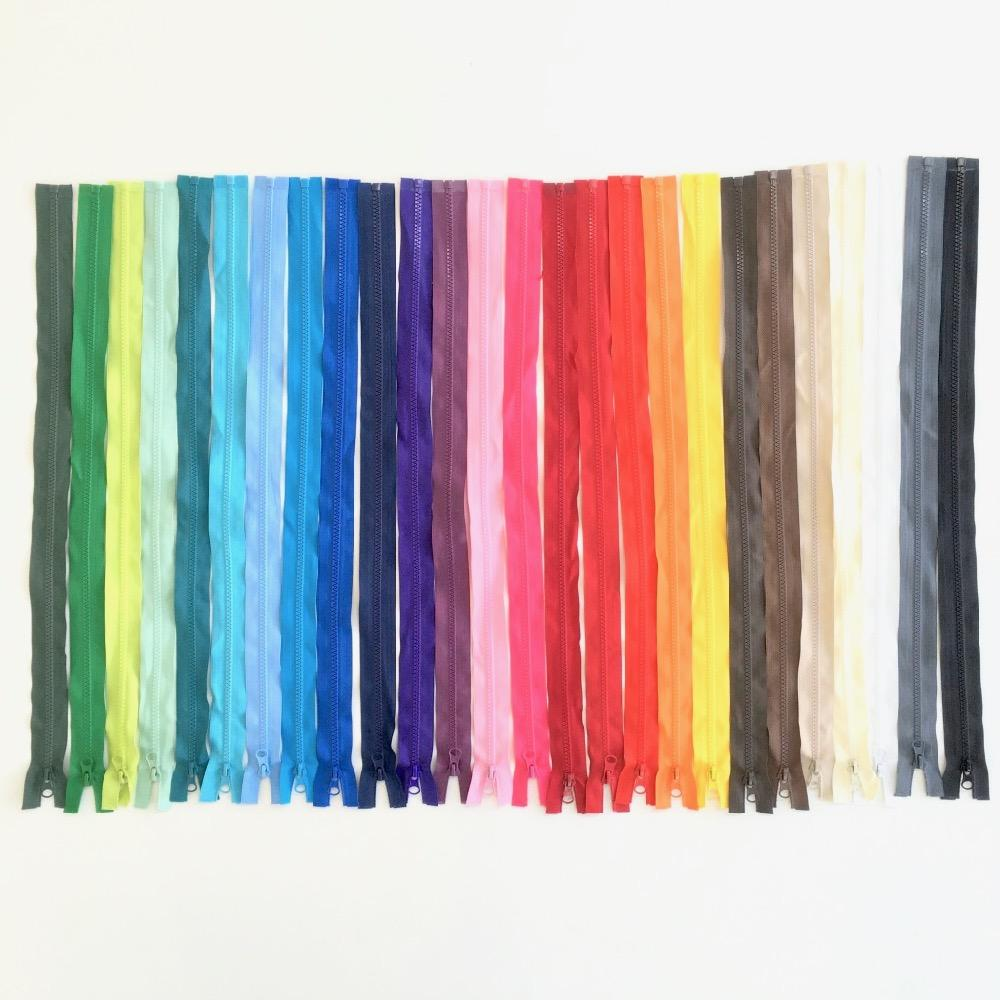 60cm Open End Chunky Zips - 26 Bright Colours