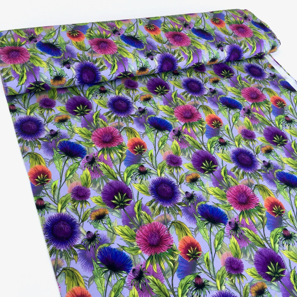 Wild Flowers Allover Lilac Jersey Print