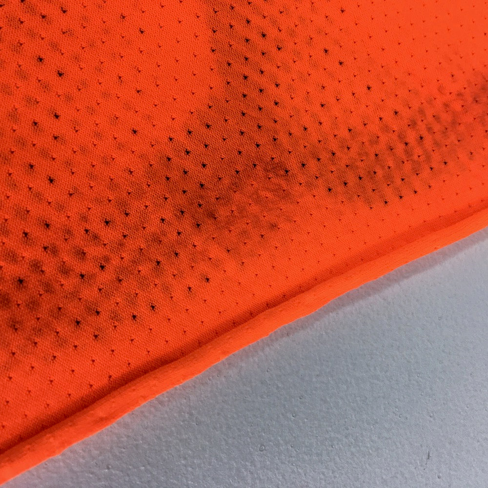 Dry Fit Sports Technical Jersey Geo Fluorescent Orange - Frumble Fabrics