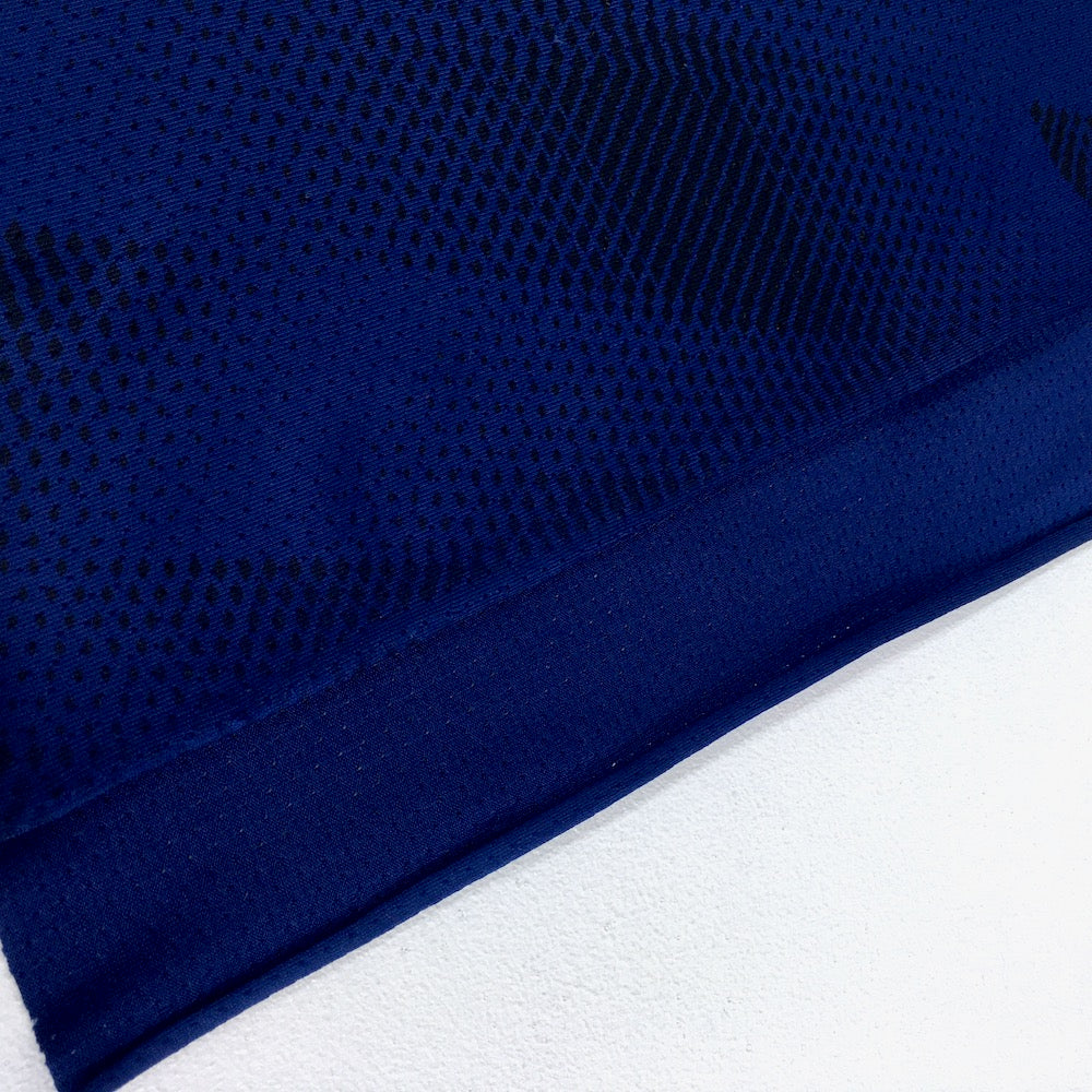 Dry Fit Sports Technical Jersey Geo Navy Blue - Frumble Fabrics