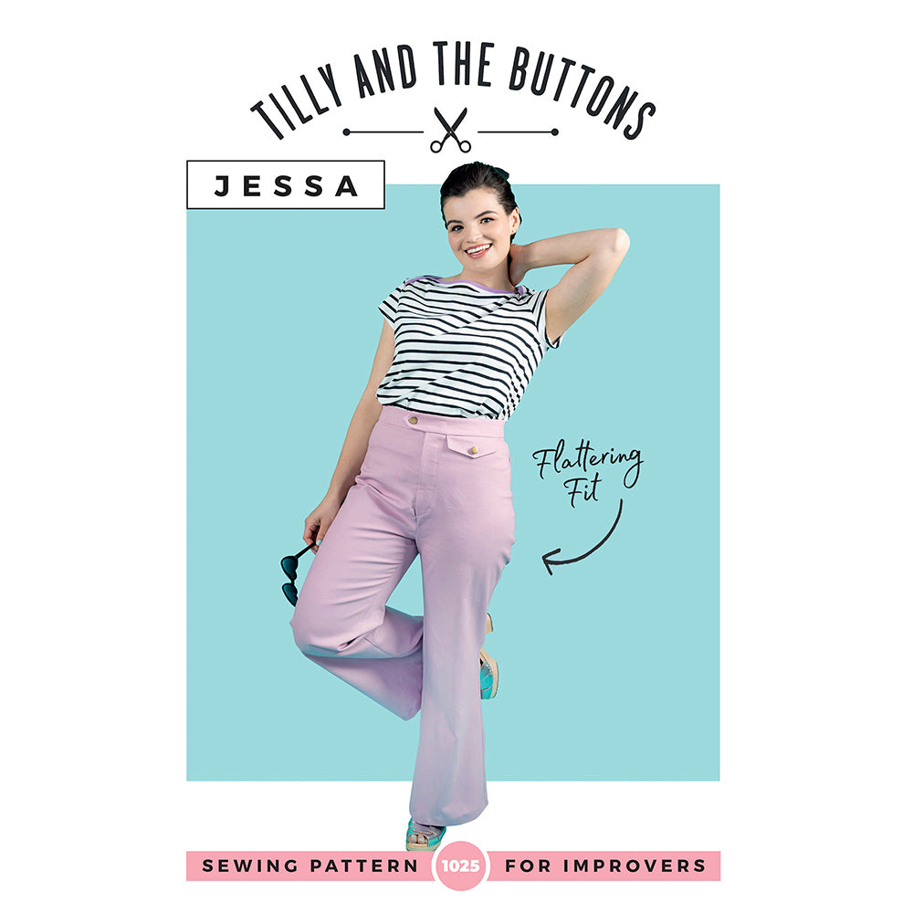 Jessa Trousers and Shorts Pattern (1025) by Tilly And The Buttons Dressmaking Patterns