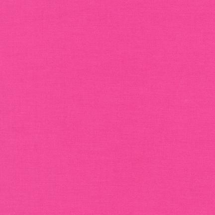 Kona Cotton Solids Brt. Pink Fabric by Robert Kaufman