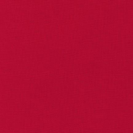 Kona Cotton Solids Cardinal Fabric by Robert Kaufman