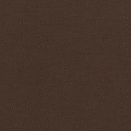 Kona Cotton Solids Chocolate Fabric by Robert Kaufman