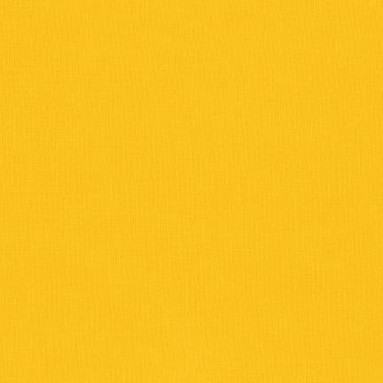 Kona Cotton Solids Corn Yellow Fabric by Robert Kaufman