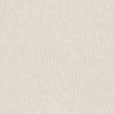 Kona Cotton Solids Ivory Fabric by Robert Kaufman