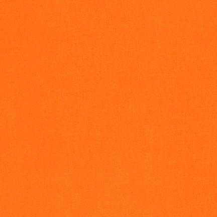 Kona Cotton Solids Orange Fabric by Robert Kaufman