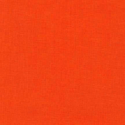 Kona Cotton Solids Tangerine Fabric by Robert Kaufman