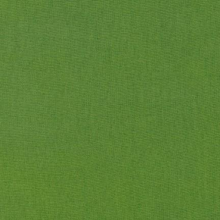 Kona Cotton Solids Grass Green Fabric by Robert Kaufman