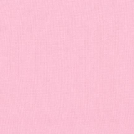 Kona Cotton Solids Baby Pink Fabric by Robert Kaufman
