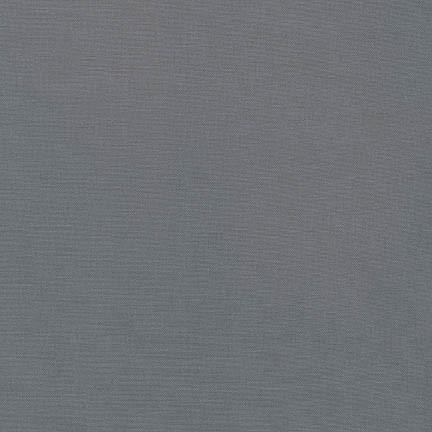 Kona Cotton Solids Graphite Fabric by Robert Kaufman