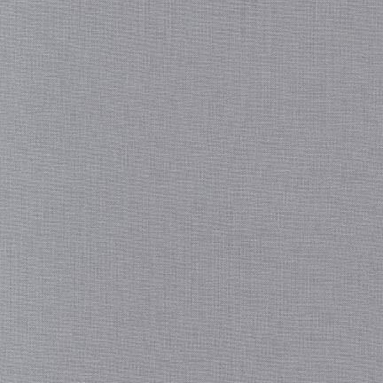 Kona Cotton Solids Iron Fabric by Robert Kaufman