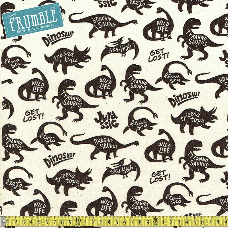 CANVAS Jurassic Life Natural - Frumble Fabrics