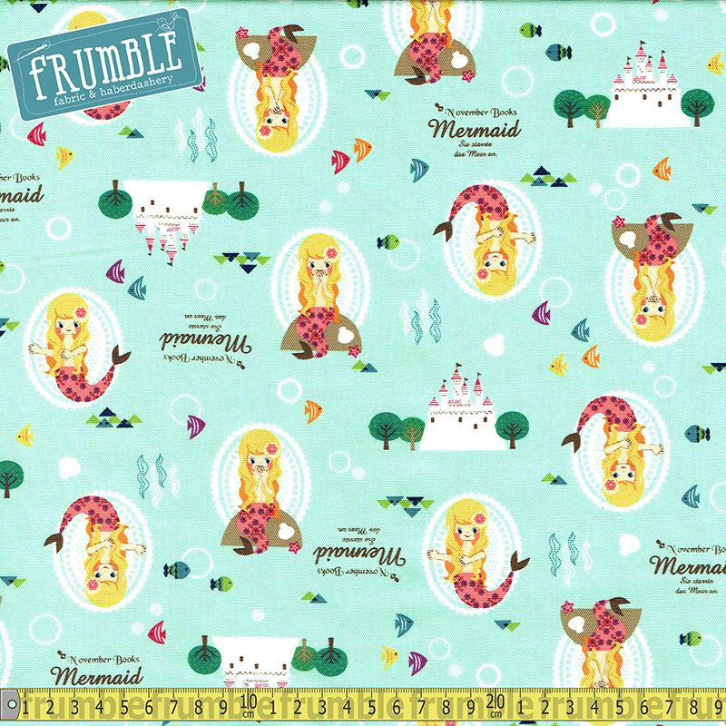 Push Pin Little Mermaid Green - Frumble Fabrics