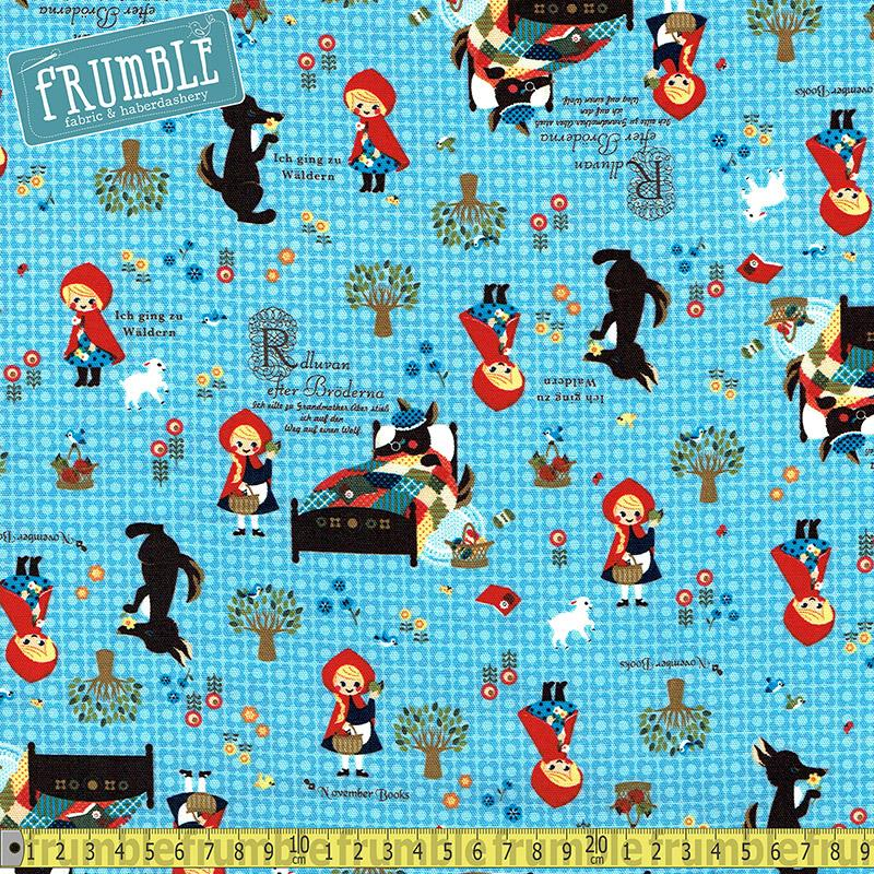 Push Pin Little Red Riding Hood Blue - Frumble Fabrics