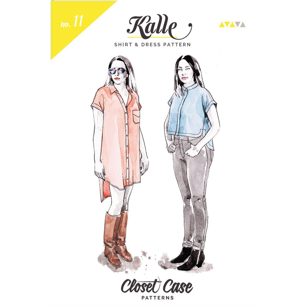 Kalle Shirt & Shirtdress By Closet Case Patterns