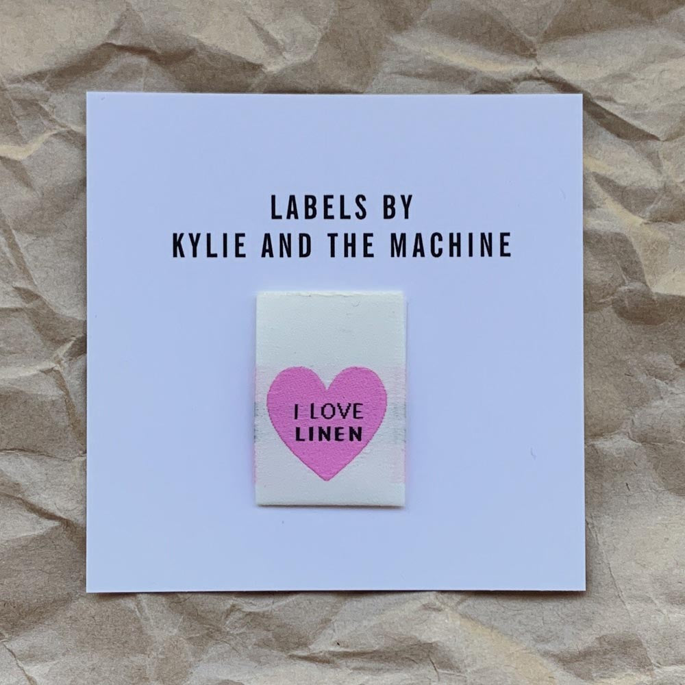 Kylie And The Machine Labels - I Love Linen - Frumble Fabrics