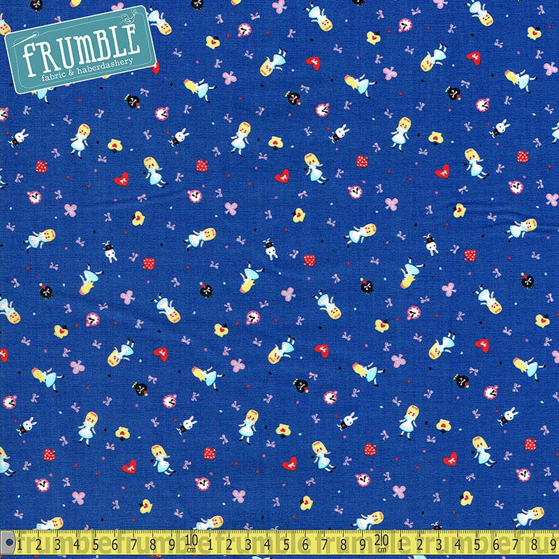 Minny Muu Alice in Wonderland Blue - Frumble Fabrics