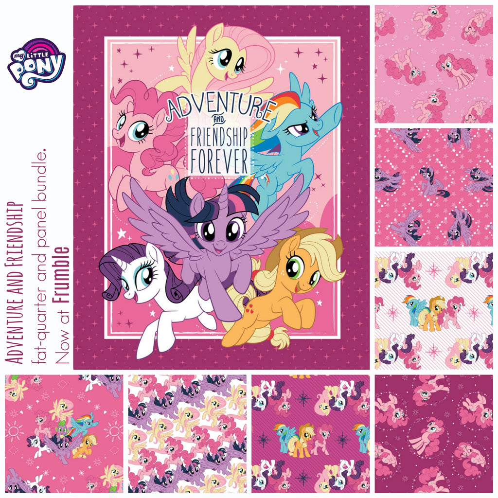 My Little Pony Adventure & Friendship FQ+Panel Bundle - Frumble Fabrics
