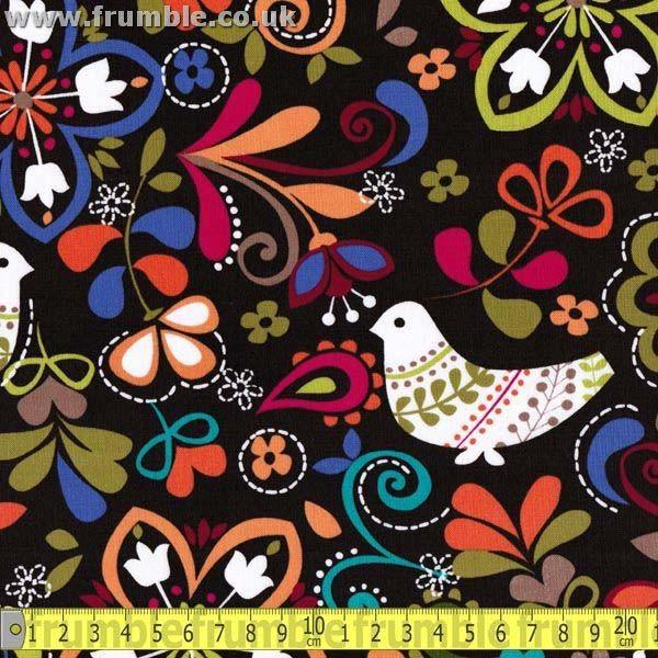 Birds Of Norway Espresso - Frumble Fabrics