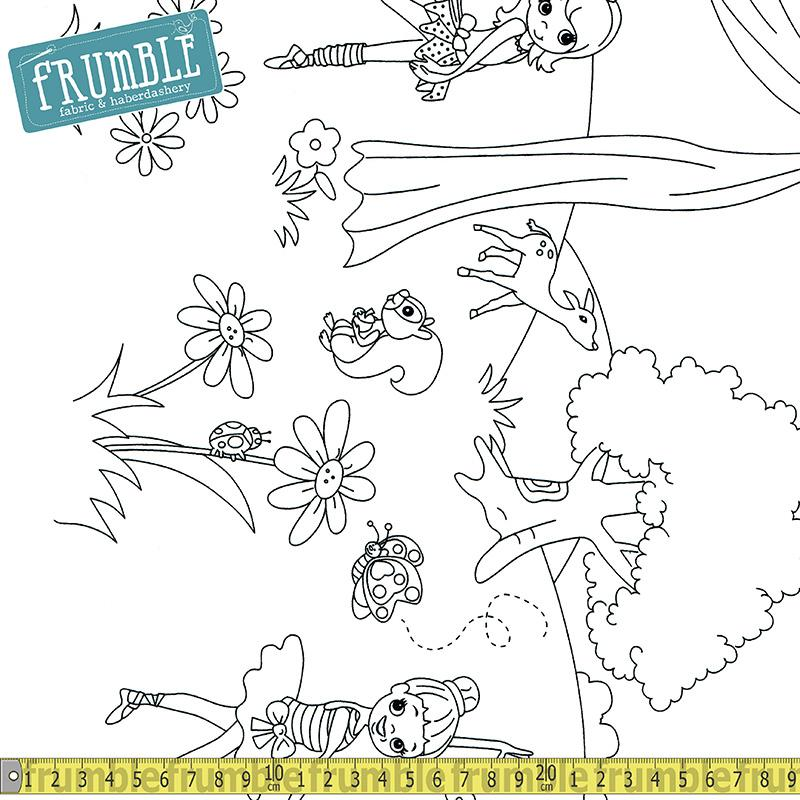 Colour Me Ballerina Border - Frumble Fabrics
