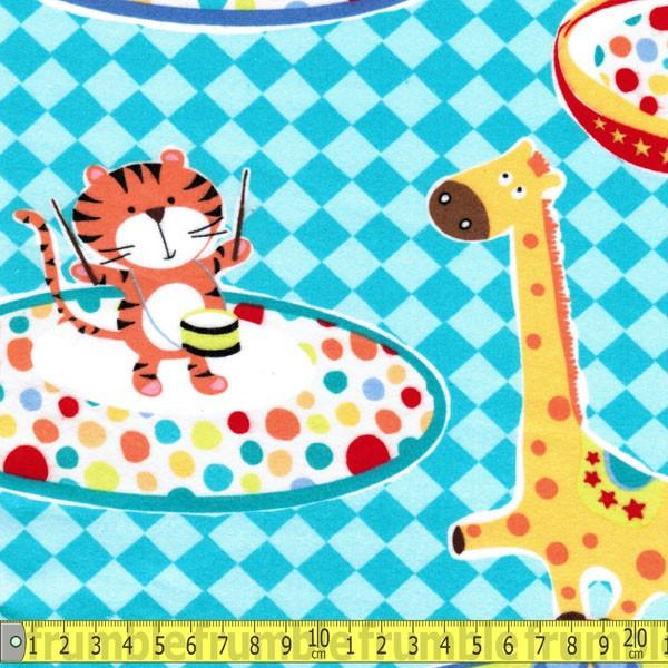FLANNEL Three Ring Circus Multi Fabric by Michael Miller