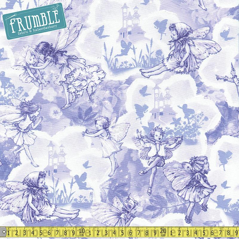 Fairy Dreamland Lilac Fabric by Michael Miller
