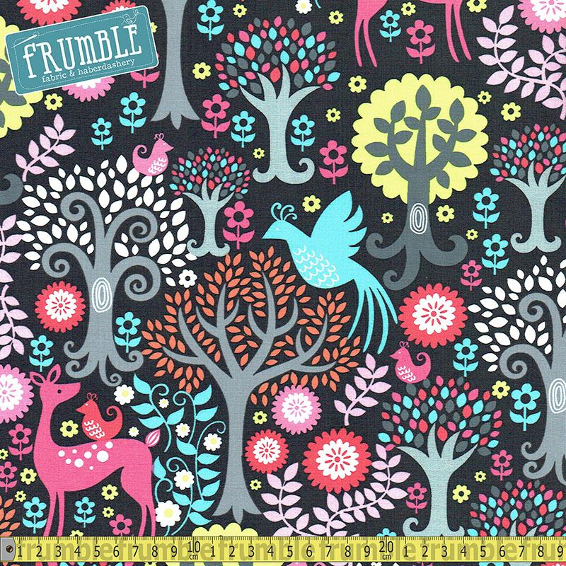 Fantasy Woods Sorbet Fabric by Michael Miller