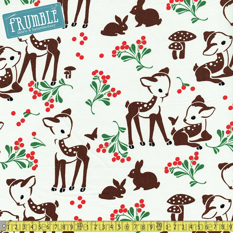 Fawn Memories Cream - Frumble Fabrics