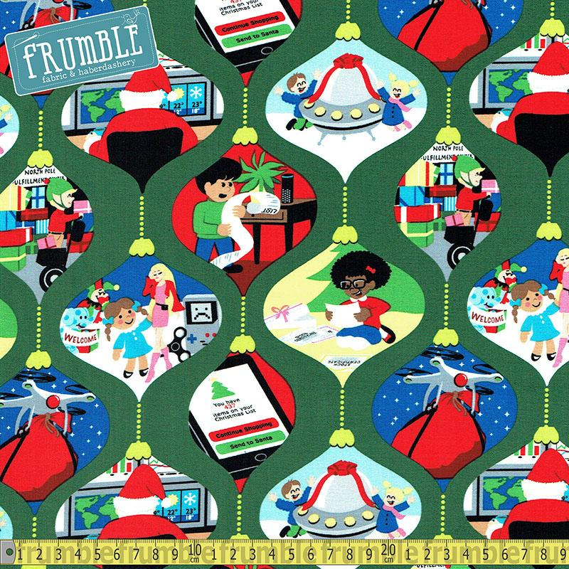 Ghosts Of Christmas Future Holiday Fabric by Michael Miller