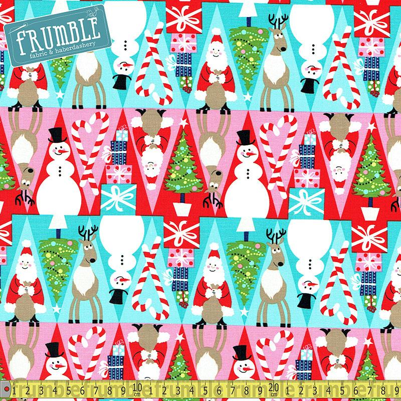 Holiday Row Multi Fabric by Michael Miller