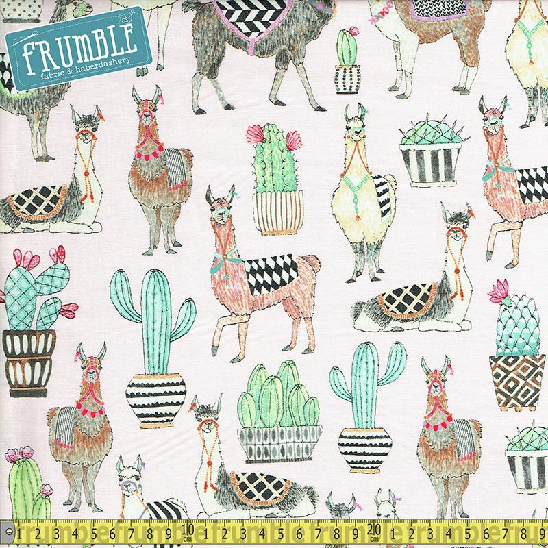 Lovely Llamas Pink Fabric by Michael Miller