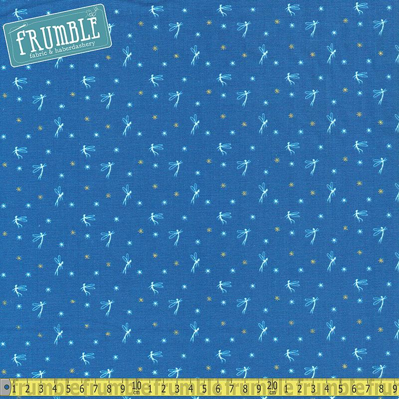 Metallic Peter Pan Tink Blue - Frumble Fabrics