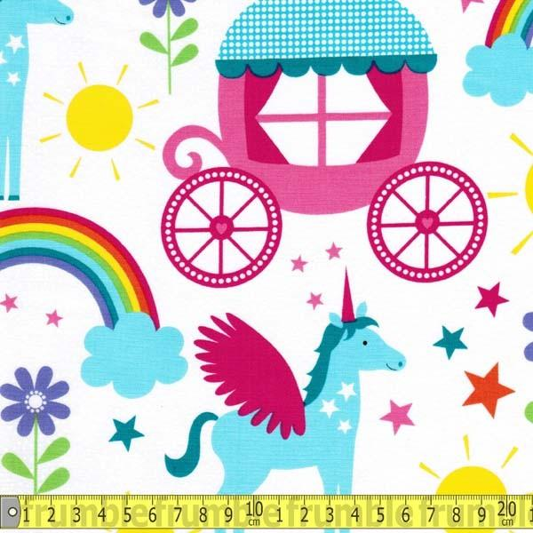 Rainbows & Unicorns Princess - Frumble Fabrics