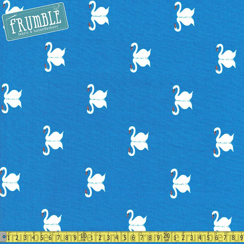 Sommer Swan Blueberry - Frumble Fabrics