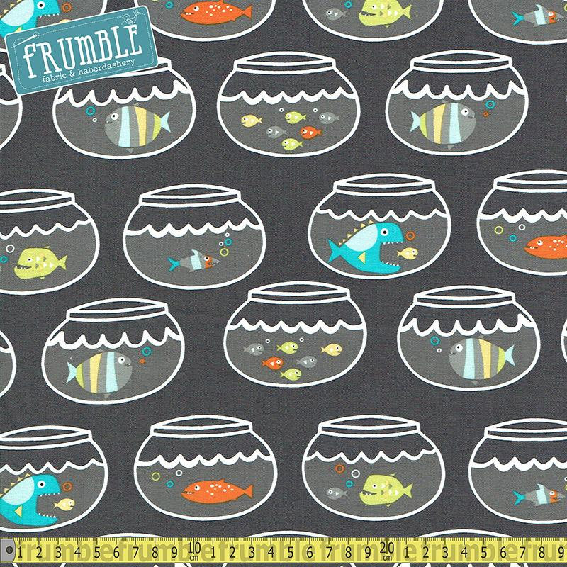 Swimming in Circles Ocean - Frumble Fabrics