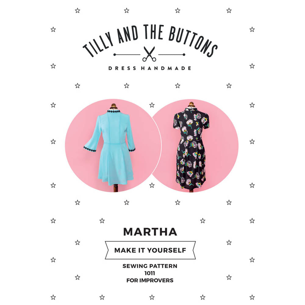 1011 Martha Dress - Tilly and the Buttons Pattern - Frumble Fabrics
