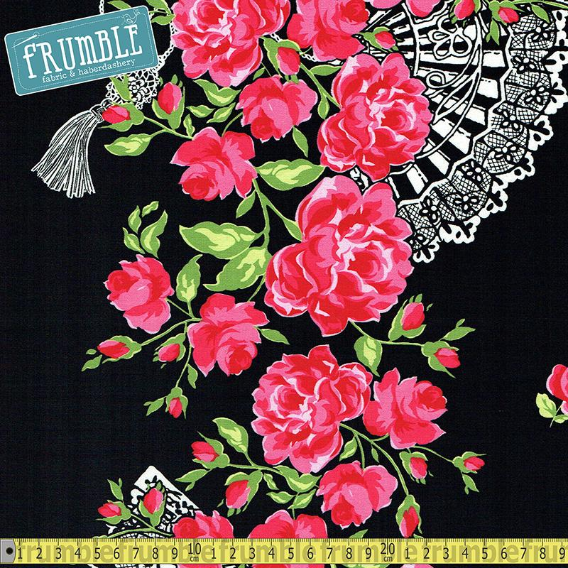 By Gertie So Fancy Noir - Frumble Fabrics