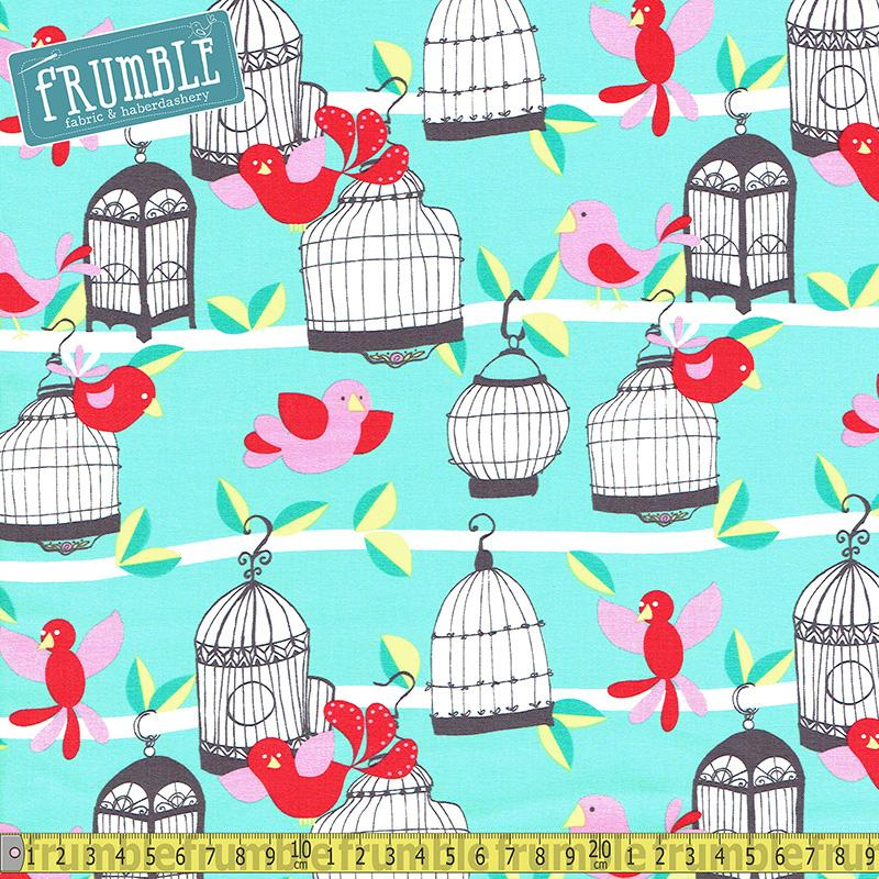 Fly Away Mint Fabric by Michael Miller