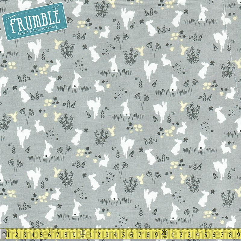 Frolic Fog Fabric by Michael Miller